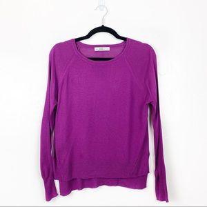 Zara   Purple Long Sleeve Sweater